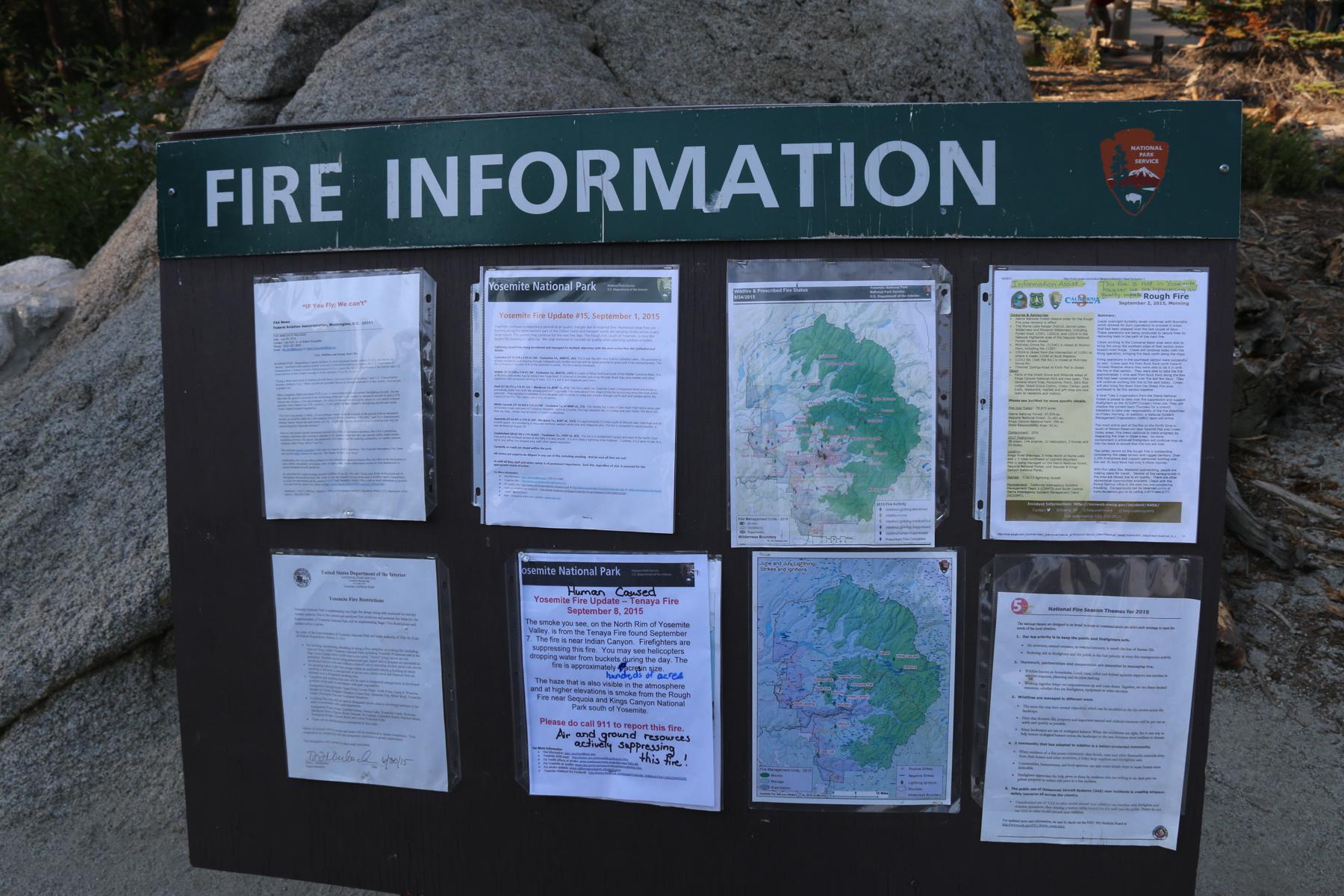 Infobord ivm de bosbranden
